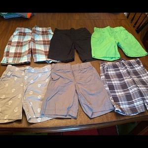6 pairs Circo boys elastic waist shorts 4-5T